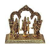 Crafticia Oxidized Golden Metal Lord Ram Sita Laxman Darbar God Idol Statue Diwali Decorative Spiritual Vastu Figurine - Religious Pooja Gift item & Murti for Mandir Temple office Handmade Gift Item For Home Decor Pink City Rajasthani Handicraft Showpiece