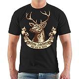 Spaß kostet Männer und Herren T-Shirt Meine Lederhose trägt Noch der Hirsch Größe S - 8XL