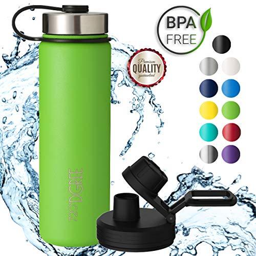 720°DGREE Edelstahl Trinkflasche noLimit 710 ml   Neuartige Thermosflasche +Gratis Sportdeckel   Auslaufsichere Isolierflasche   Perfekte Outdoor Sportflasche für Kinder