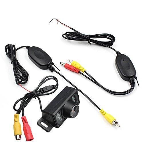 Wosonku 2.4G Wireless Car Reverse Rear View Backup Camera 7 IR Night Vision Parking Kit -
