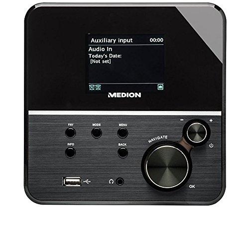 MEDION LIFE MD 86988 Internetradio mit Wlan (Empfang von 13.000 Internet-Radiosendern, Farbdisplay, UKW-Empfänger, DLNA kompatibel), schwarz