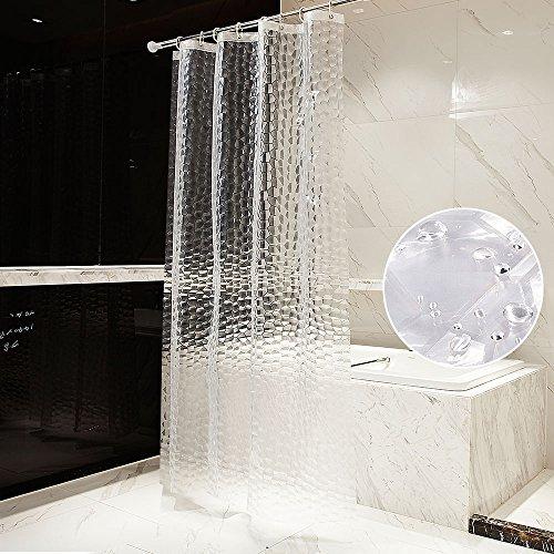 otraki badvorhänge venster 180x 180cm PEVA Waterdicht gordijn Ondoorzichtig badkamer 3d wasserwürfel mildewproof douchegordijn overmatige lengte milieuvriendelijk wasbaar Shower curtain met 12duschvorhangring