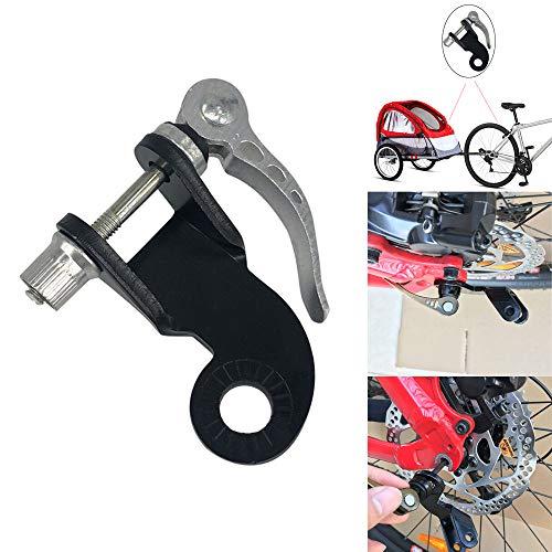 QHJ Winkel Winkelstück für Fahrrad anhänger mit Stahl Fahrrad anhänger für Burley Anhänger Fahrrad Zubehör (Schwarz)