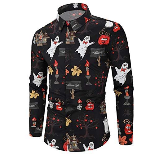 Fenverk Sweatshirts Herren Hooded MäNner Kapuzenpullover Frauen Modus 3D Print Langarm Paare Outwear Hoodies Top Pullover Liebhaber Damen Herbst Winter Sweatshirt Streetwear(Schwarz,XL)