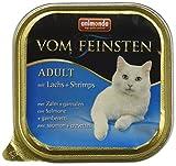 Animonda Vom Feinsten Adult Nassfutter, für ausgewachsene Katzen, mit Lachs und Shrimps, 32 x 100 g