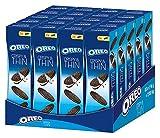 Oreo Crispy & Thin - Extra dünne Doppelkekse mit Crèmefüllung - Kakaokeks mit knuspriger Crémefüllung 20 x 96g
