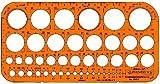 Schablone Kreise 1315F 1 bis 36Mm mit Facetten