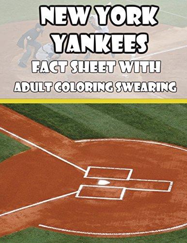 New York Yankees Fact Sheets with Adult Coloring Swearing por Mega Media Depot