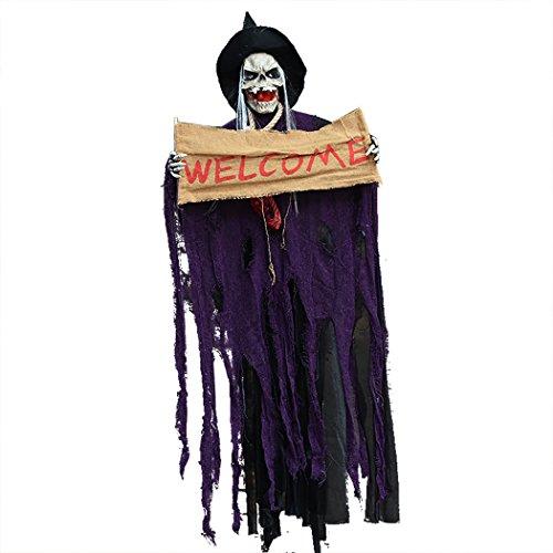 Joyibay Hängender Geist Halloween Hängenden Dekor Unheimlich Aufhellen Unheimlich Stütze mit Geräuschen
