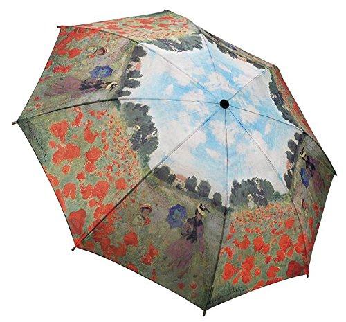 Galleria - Parapluie Pliant Femme - Champ de Coquelicot de Monet - Ouverture et Fermeture Automatique