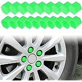 Larcele Silicona rueda de tuerca de la tuerca cubre 21 mm 20 piezas lsbht-01 (verde)