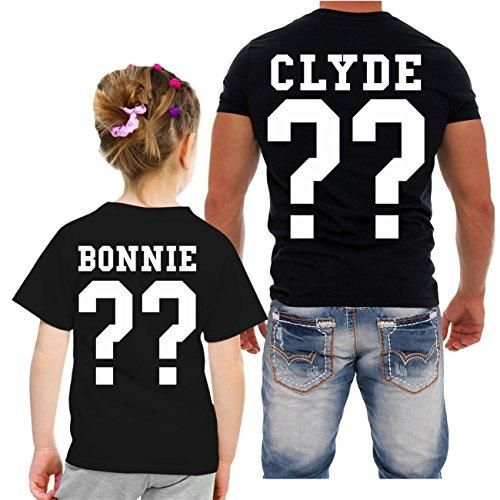 *Partnershirt VATER & TOCHTER Bonnie & Clyde (mit Rückendruck)*