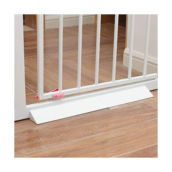 GOLDA Baby Gate Stumble Protection Ramp Accessories Non-Slip and Non-Trip Reinforcement Base for Toddlers or Pet Indoor Gates and Fences Safety Gate Tool Angled Ramp Bar(White) GOLDA QUICK AND EASY TO USE - Straight forward installation, in less than 2 minutes your child is safer and confident in their steps PRACTICAL SAFETY BASE - Light to carry, easy to clean and store. with Premium Size : Fits on majority of safety gates and extensions available AVAILABLE IN TWO COLOURS - Adapt to any room or furniture with black or white option. 6