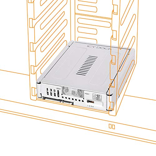 Icy Dock EZConvert Pro MB982SPR-2S R1 - 2x 2,5 Zoll (6,4cm) zu 3,5 Zoll (8,9cm) SATA SSD/HDD RAID Konverter - Vollmetall -