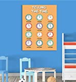 Inspiriert wallsâ ® Whats der Zeit Bildung Poster Kinder Uhr Wand Sagen Tell Kindergarten