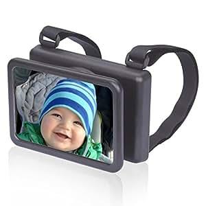 Wicked Chili Sicherheits Baby Spiegel, Rücksitzspiegel, Rückspiegel für Babyschale und Kindersitz, drehbar, neigbar, Reboarder Babyspiegel (Made in Germany)