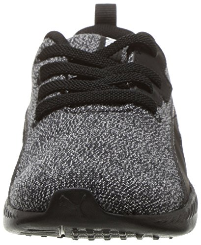 PUMA Baby Tishatsu Runner Knit AC Sneaker  Black White  4 M US Toddler