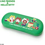 Sanrio LINE FRIENDS & Hello Kitty Glasses Case Narikiri Friends From Japan New