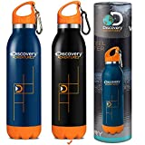 Discovery Adventures Water Bottle,Double Walled Vacuum Insulated Stainless Steel Bottle & Flask,24 Hours