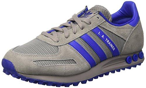 Adidas la Trainer, Scarpe da Ginnastica Uomo, Grigio (Chsogr/Boblue/Ftwwht), 41 1/3 EU