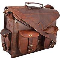 """15""""handgemachtes echtes Leder-Kurier-Laptop-Beutel Aktenkoffer, reine rustikale haltbare handgefertigte lederne Beutel - kostenlose Überraschung Geschenk"""