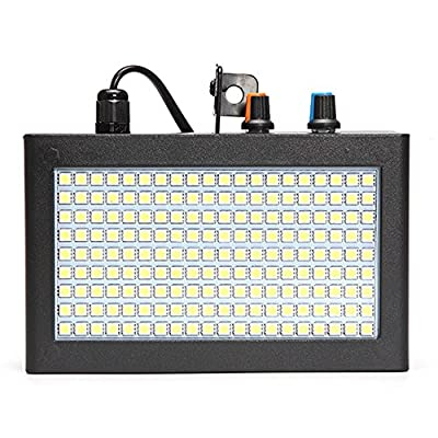 Strobe Lights for Parties GLIME 180 LED 35W Flash Lights Stage Lights Disco DJ Light Party Lighting Auto Sound Activated Adjustable Flash Speed Control for Wedding KTV Show Club Pub Parties Decoration