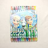 Shopkooky Colorful Frozen Twistup Rolling Crayons Pen For Kids Stylish And Attractive Perfect For Gifting Purpose Return Gifts For Kids Birthday In Bulk (Pack Of 12 Colors)