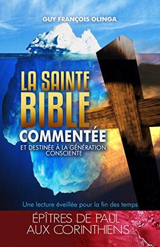 Couverture du livre La Sainte Bible Commentée - Épîtres de Paul aux Conrinthiens