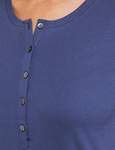 Schiesser Mix & Relax Shirt 1/1 Arm - Haut de pyjama - Femme Bleu - Bleu foncé (803)