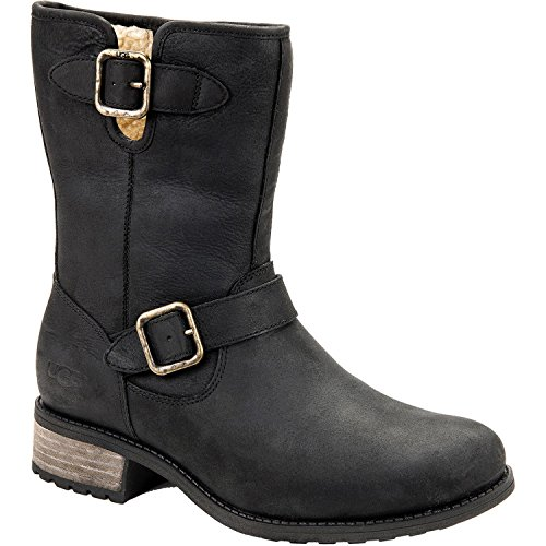 UGG Australia Womens Chaney Leather Boot Black Size 6.5