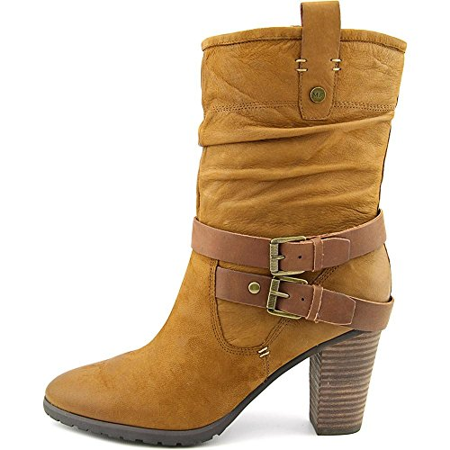 Marc Fisher Famous Cuir Botte Medium Brown