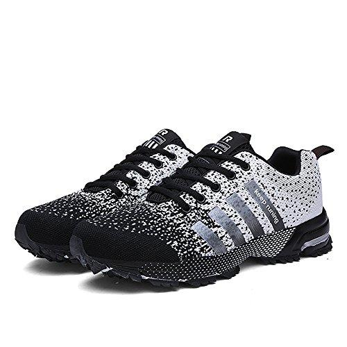 2019 Männer Laufschuhe Atmungsaktive Outdoor-Sportschuhe Leichte Turnschuhe für Frauen Bequeme Sportschuhe Schwarz 11