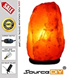 NATURAL PINK HIMALAYAN CRYSTAL ROCK SALT LAMP WITH BUTTON SWITCH AND BRITISH STANDARD ELECTRIC PLUG. 100 % PREMIUM AND FINE QUALITY SOURCEDIY® (7-10 KG With Dimmer)