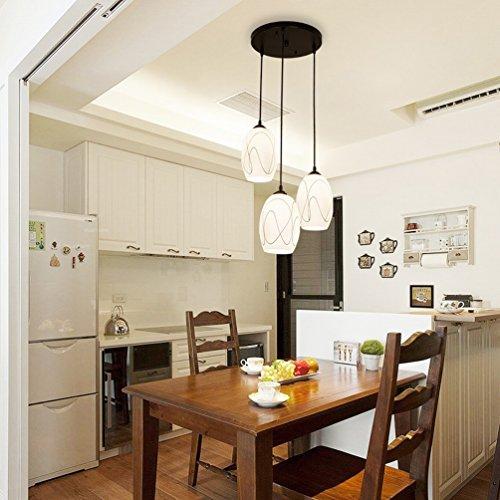 MoM Modernes, Geführtes Rundes Restaurant Kronleuchter DREI Idyllische IKEA Kreative Bar Tisch Esszimmer Esszimmer Lampen,B