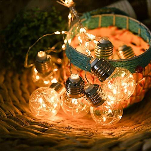 iBaste 100 LEDs Solar Lichterkette für Außen Weihnachtslichterketten DIY Glühbirne String Lights mit 8 Modi Schnur Licht Deko Wasserdicht Girlande für Innen Weihnachtsbaum Party Hochzeit