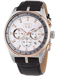 Cerruti 1881 Herren-Armbanduhr VELIERO Analog Quarz Leder CRA089Y213G