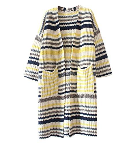 Sentao Cardigan A Maniche Lunghe Da Donna Jacket Elegante In Maglia Maglione Stile 1