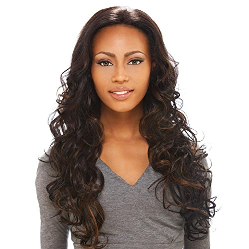 Sensationnel LH JENNIFER LACE WIG 100% Human Hair extra long Elegante Echthaar Perücke, Farbe:1B (natürlich schwarz) - Remi Lace Perücken