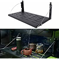 Bosmutus Multi-Purpose Tailgate Table, Rear Foldable Back Shelf for J-eep Wrangler TJ JK JKU 1996-2017 2/4 Door Rubicon Sahara Sport Accessories, 75lbs/34kg Load Capacity【Aluminum Alloy 】