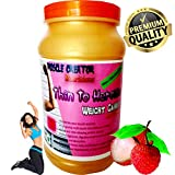 Muscle Creator nutrition's (thin to heroine) weight gainer for women litchi 1 kg