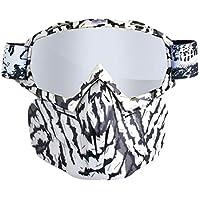 Eruditter 18x 8cm TPU Tow de Cross Country Gafas de protección Gafas Gafas Gafas de protección de Deportes de Exterior para Casco Gafas protección Gafas de Tres Capa de Esponja (OPP Funda)