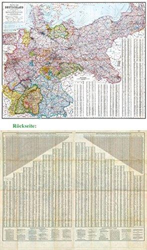 online karte deutschland General Karte Deutsches Reich   Deutschland, 1910: Zwei Großkarten