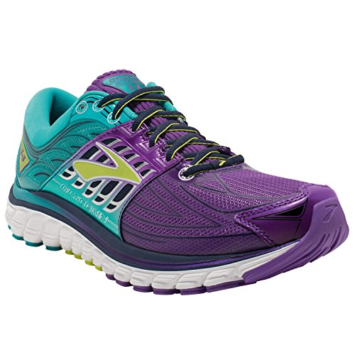Brooks Glycerin 14, Chaussures de Course Femme, Aubergine Pansy/Ceramic/Lime Punch