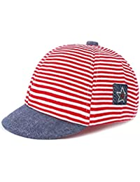 3925b0135ae Ziory Boy s and Baby Girl s Striped Snapback Baseball Cap (Red)