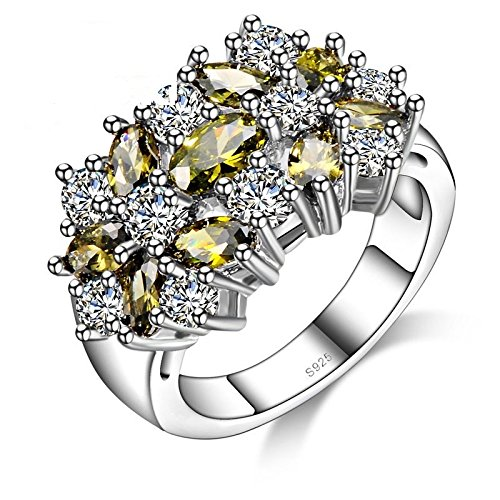 UrbanTrendz.in Sterling Silver 925 Ring with fine quality Zircons