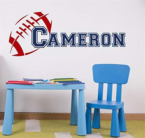 Wandtattoo Wohnzimmer Wandtattoo Schlafzimmer Rugby Boy Name Decal Sport personalisierte Aufkleber Schlafzimmer Kunst für Wohnzimmer für Kinderzimmer Kinderzimmer