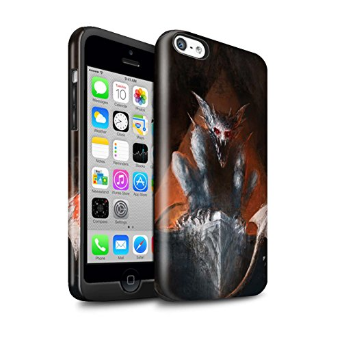 Offiziell Chris Cold Hülle / Glanz Harten Stoßfest Case für Apple iPhone 5C / Pack 6pcs Muster / Wilden Kreaturen Kollektion Vampirfledermaus