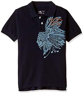 Flying Machine Boys' T-Shirt (FKTS5186_Navy_M)