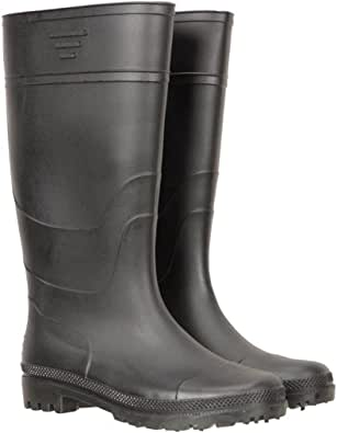 Mountain Warehouse Splash Mens Wellies - Easy Clean Walking Shoes, Waterproof Rain Shoes, Soft Fabric Lining, Cushioned Footbed Wellington Boots - Best for Wet Weather
