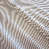 Stoff Meterware Bauernstreifen beige weiß Streifen 4 mm